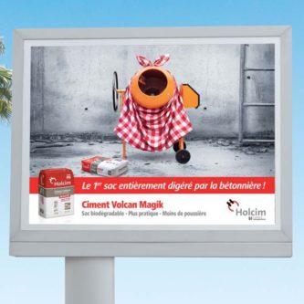 Campagne d'afficheage 4X3 pour le lancement du ciment Magik sur toute l'île de La Réunion.