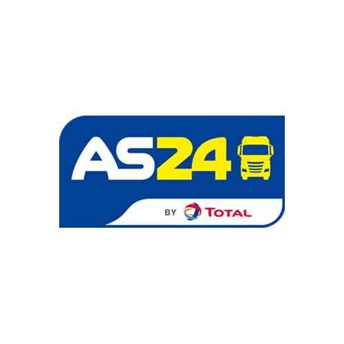 Le logo d'AS24(groupe Total), société de services et de distribution de carburants pour les professsionnles. Il s'agit d'une référence client d'Antoine Chadufau.