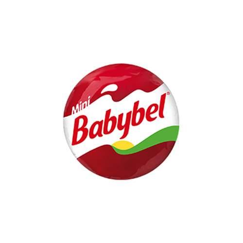 Babybel est un fromage pour enfant rond avec un pate de protection rouge.