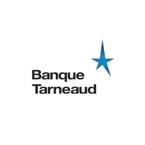 Le logo de la banque Tarneaud basée à Limoges. Il s'agit d'une référence en édition d'Antoine Chadufau.