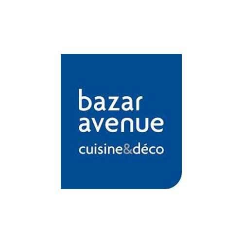 Le logo de l'enseigne de cuisine et décoration Bazar avenue est un carré bleu arrondi.