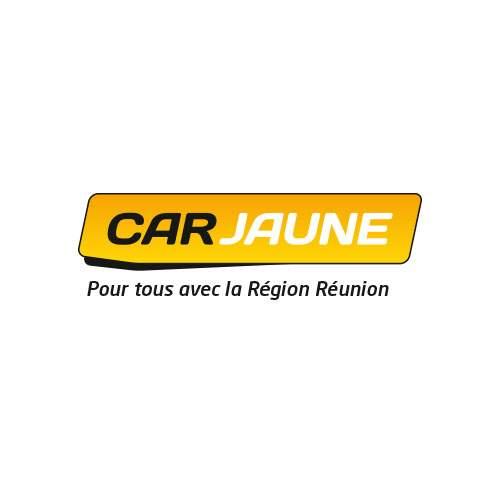 Le logo de Car Jaune, le service de transport en commun de La Réunion. C'est une référence conseil en communication d'Antoine Chadufau.