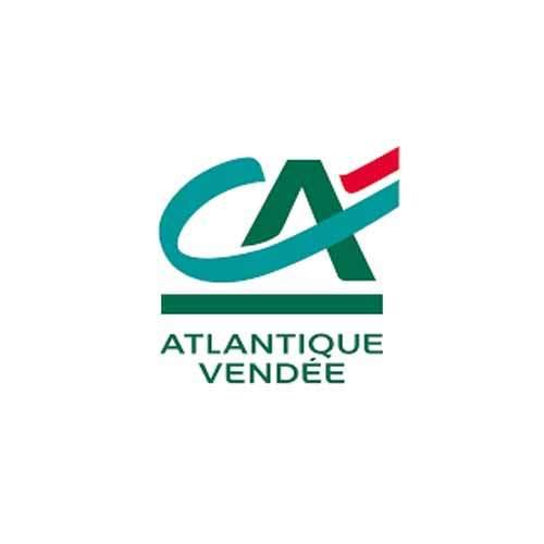 Le logo de la banque et assuiances Crédit Agricole Atlantique Vendée. Il s'agit d'une référence cosneil en communication d'Antoine Chadufau.