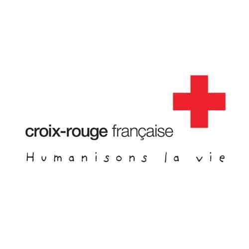 Le logo de la Croix Rouge. Il s'agit d'une référence client conseil en communication d'Antoine Chadufau.