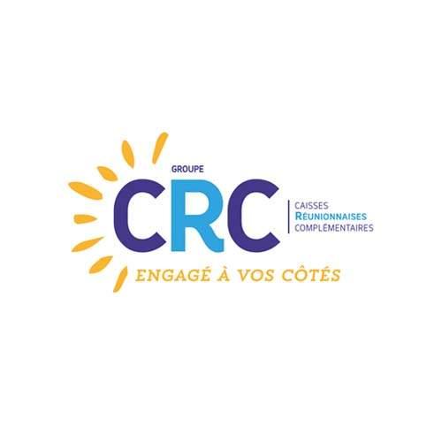 Le logo du Groupe CRC qui est la caisse réunionnaises complémentaires de La Réunion. Il s'agit d'une référence d'Antoine Chadufau.