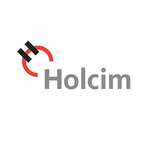 Le logo du cimentier Holcim. Il s'agit d'une référence conseil en communication d4antoine chadufau à La Réunion.