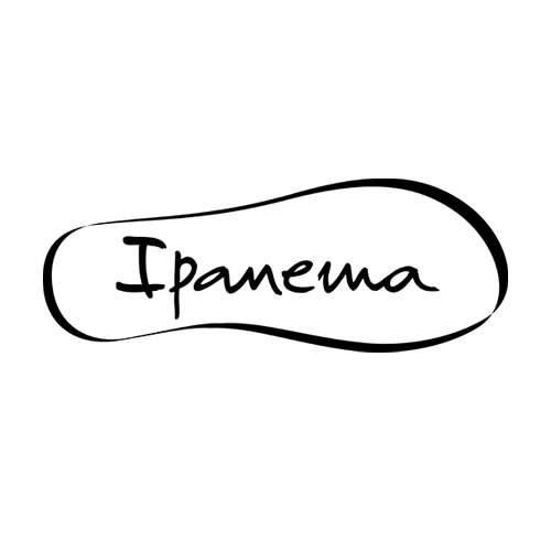 Le logo d ela marque de tongue brésilienne Ipanéma dsitibuée par La Halle à La Réunion. Il s'agit d'une référence conseil en communication d'Antoine Chadufau.