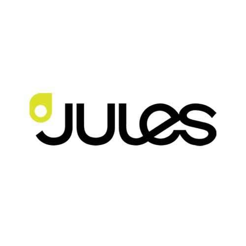 Le logo de l'enseigne de mode Jules. Il s'agit d'une référence en cosneil en communication d'Antoine Chadufau.