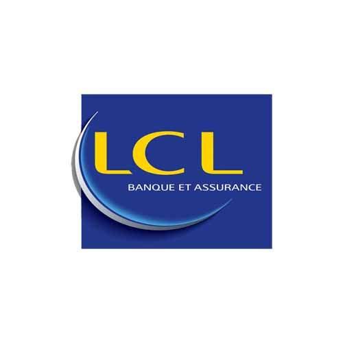 Le logo du LCL (le crédit lyonnais), une référence Publishing Services d'Antoine Chadufau.