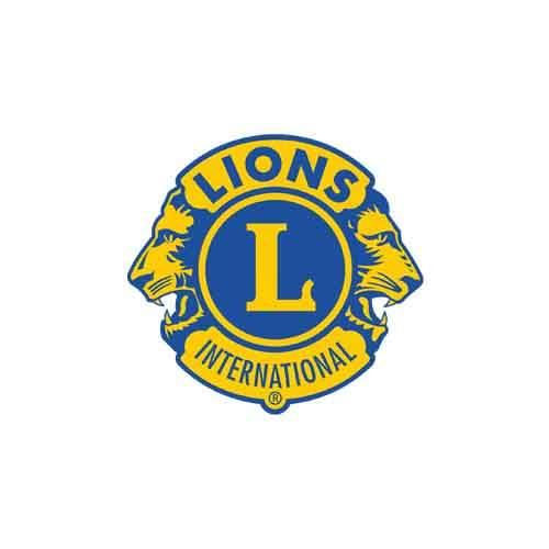 le logo du Lions Club, association à but humanitaire. Il s'agit d'une référence client en conseil en communication d'Antoine Chadufau.