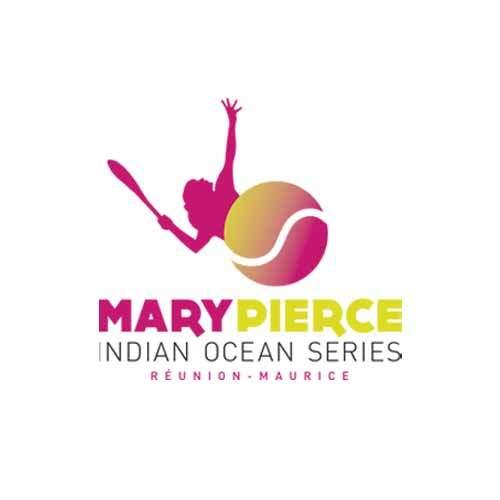 Le logo du tournoi de tennis Mary Pierce Indian Ocean Series. Il s'agit d'une référence conseil en communication d'Antoine Chadufau.