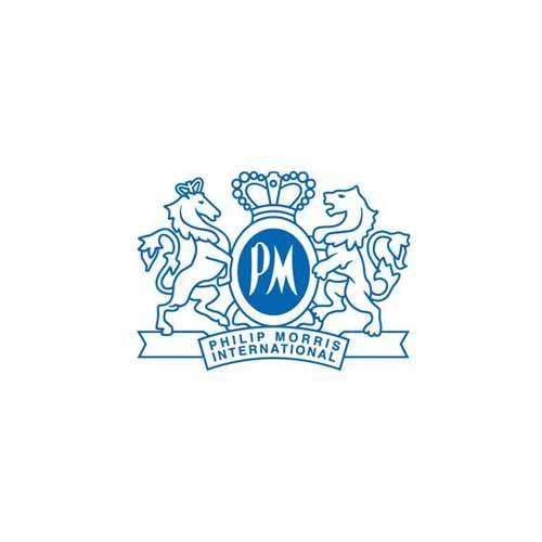 Le logo de la firme de tabac Philip Moriss. Ils 'agit d'une référence conseil en communication d'Antoine Chadufau.