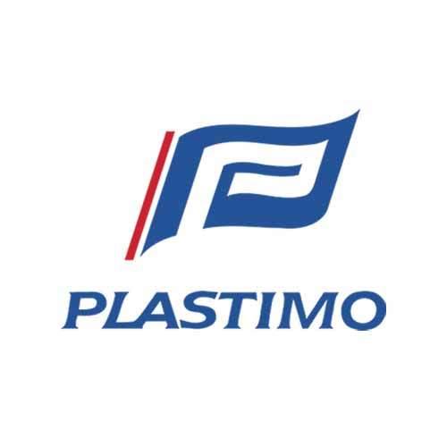 Le logo de la marque d'accastillage Plastimo. Il s'agit d'une référence client en Publishing Services d'Antoine Chadufau.