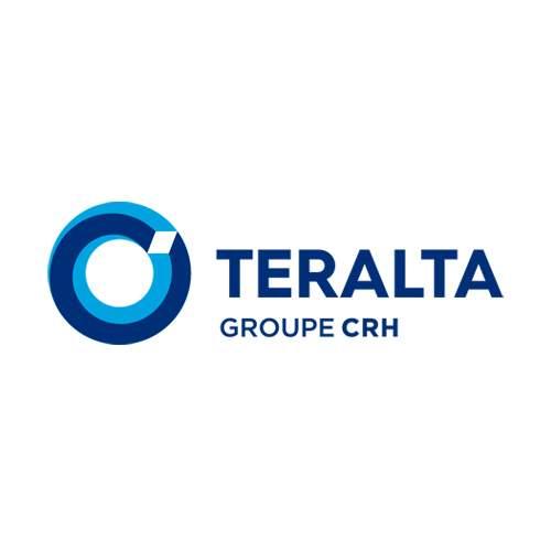 Le logo de Teralta du groupe CRH, société spécialiste du béton et du BTP. Il s'agit d'une référence en branding - packaging et conseil en communication d'Antoine Chadufau.