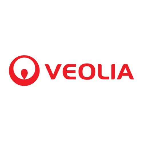 Le logo de Véolia, distributeur d'eau et de services associés à sa distribution. Il s'agit d'une référence cosneil en communication d'Antoine Chadufau.