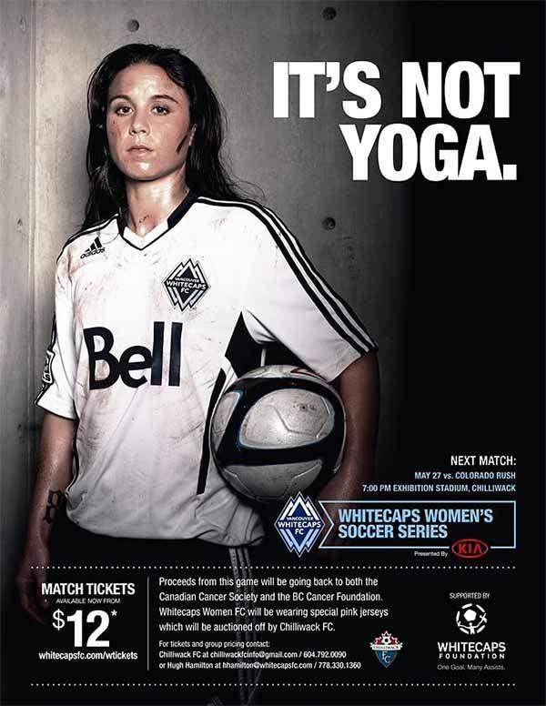 Le football féminin ce n'est pas du yoga