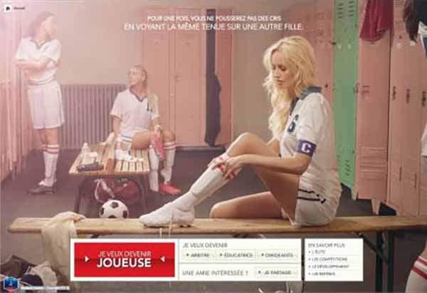 La campagne de valorisation du football féminin de la la FFF avec Adriana Karembeu en ambassadrice