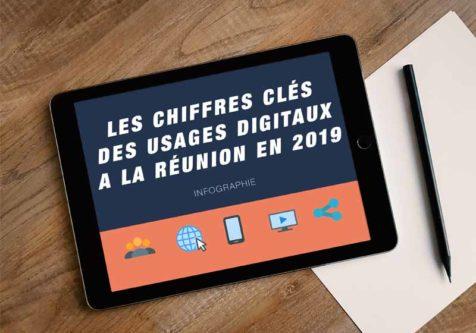 Infographie : Les chiffres clés des usages digitaux à La Réunion en 2019