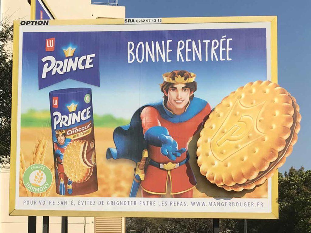 Campagne d'affichage de Prince à La Réunion