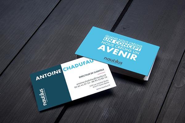 Antoine Chadufau - carte de visite agence Nautilus