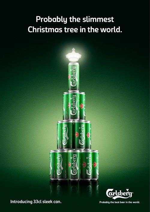 Top 30 des publicités créatives autour du sapin de Noël 24 Carlsberg