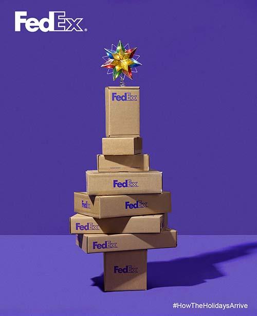 Top 30 des publicités créatives autour du sapin de Noël 29 Fedex