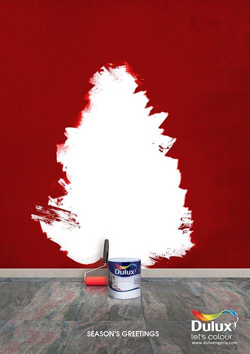 Top 30 des publicités créatives autour du sapin de Noël 10 Dulux