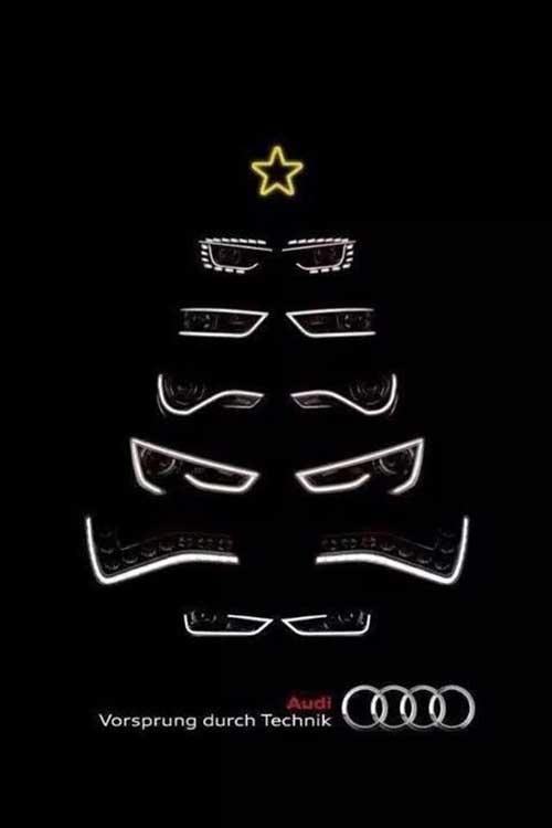Top 30 des publicités créatives autour du sapin de Noël 23 Audi