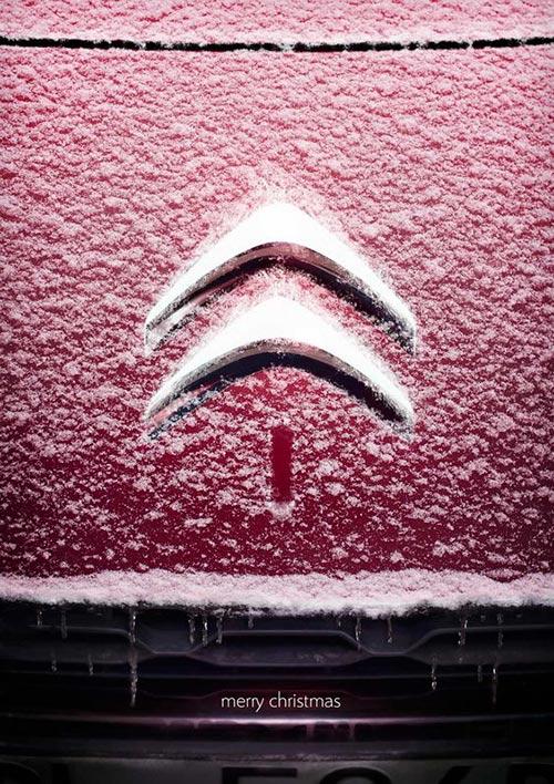 Top 30 des publicités créatives autour du sapin de Noël 22 Citroën