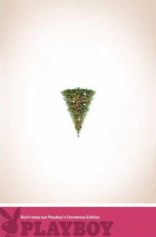 Top 30 des publicités créatives autour du sapin de Noël 25 Playboy