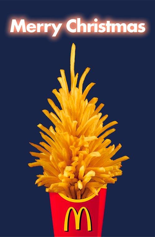 Top 30 des publicités créatives autour du sapin de Noël 8 Mc Donald's