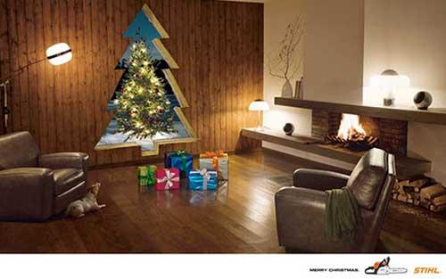 Top 30 des publicités créatives autour du sapin de Noël 6 Stihl