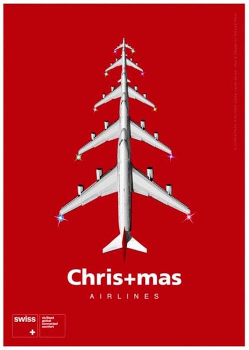 Top 30 des publicités créatives autour du sapin de Noël 2 Swiss Airlines