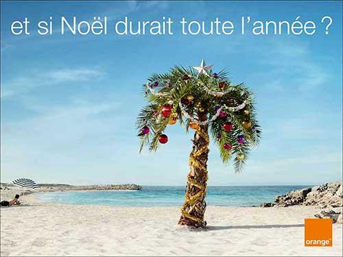 Top 30 des publicités créatives autour du sapin de Noël 19 Orange Noël