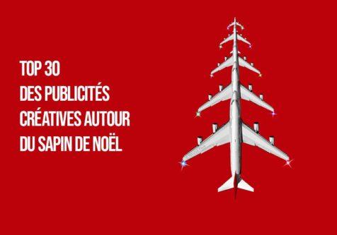 Titre-Top 30 des publicités créatives autour du sapin de Noël