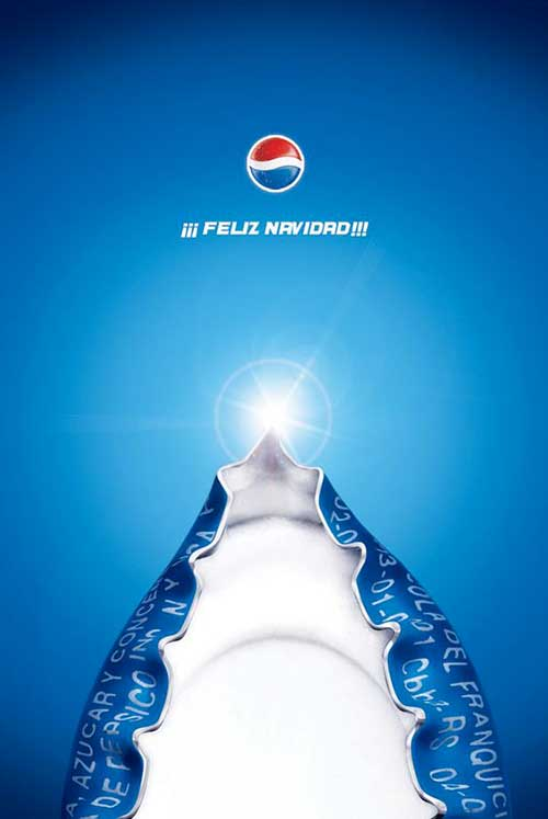 Top 30 des publicités créatives autour du sapin de Noël 14 Pepsi
