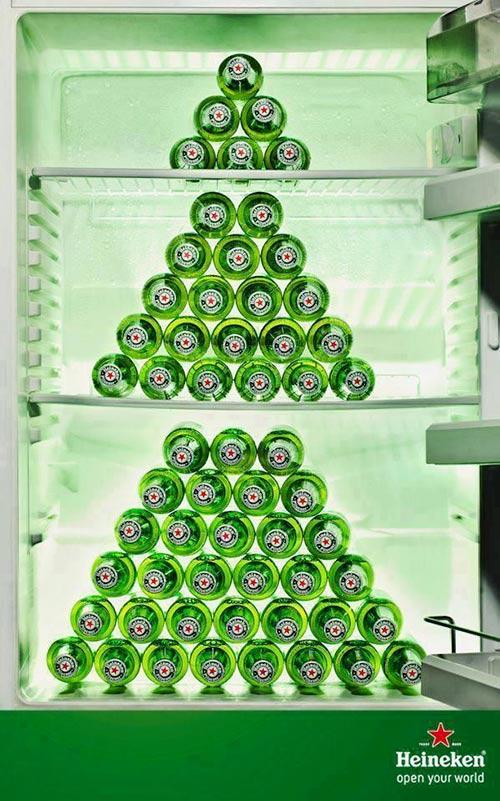 Top 30 des publicités créatives autour du sapin de Noël 13 Heineken