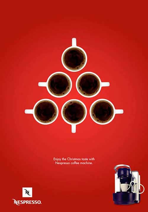 Top 30 des publicités créatives autour du sapin de Noël 27 Nespresso