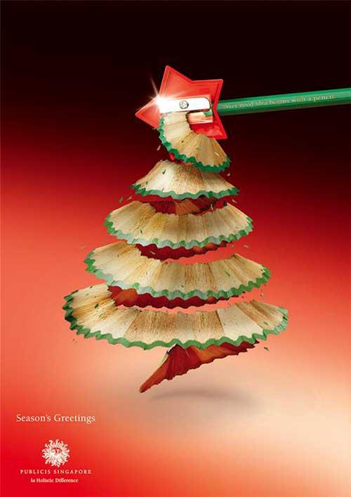 Top 30 des publicités créatives autour du sapin de Noël 21 Publicis Singapour
