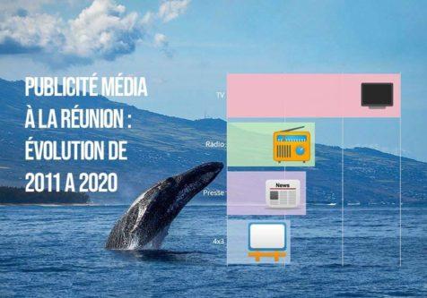 Publicité Média à La Réunion : évolution de 2011 à 2020